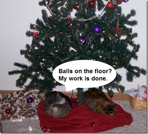 Christmas Balls on the Floor