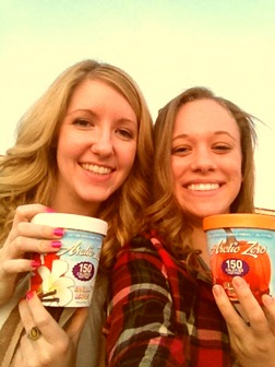 Brianna and Bailee 150 Calorie Ice Cream